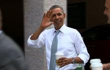 Case of the Mondays? Obama grabs some Starbucks