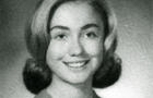 Hillary Rodham as seen in her 1965 yearbook from Maine South High School in Park Ridge, Ill.