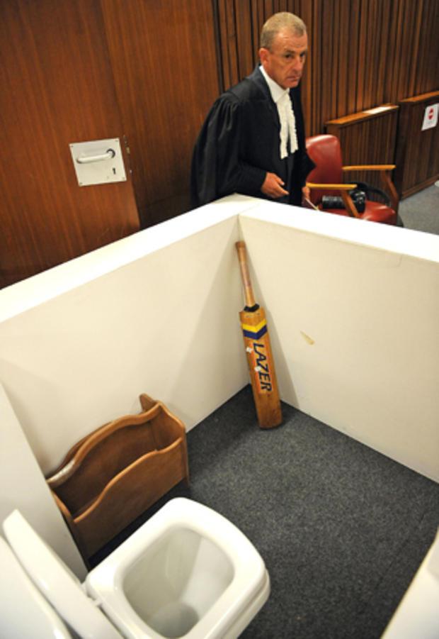 Model of Oscar Pistorius' bathroom