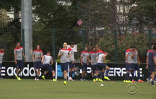 U.S. men's soccer team preps for faceoff with Belgium