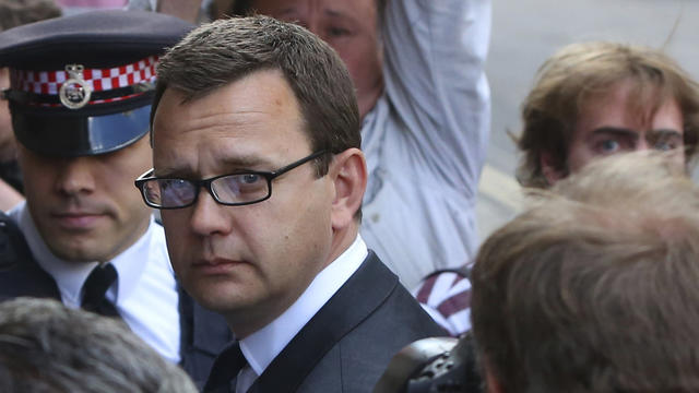 Former Editor of the News of the World Andy Coulson arrives for the sentencing at the Old Bailey court house in London