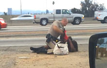 CHP investigating video of officer beating woman