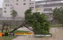 Japan under pressure from powerful typhoon