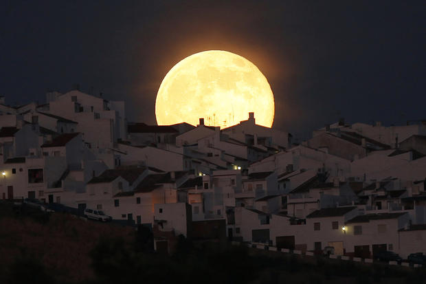 Supermoon rising