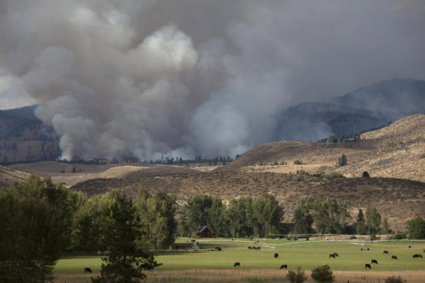 Wildfires rage across Washington state