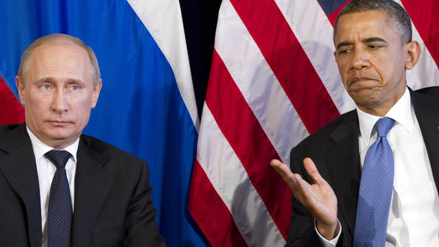 President Obama participates in a bilateral meeting with Russia's President Vladimir Putin