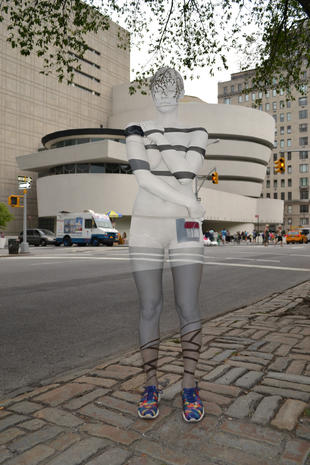 Body painting urban camouflauge