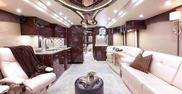 the world39s most expensive motorhome yours for 2 million. Black Bedroom Furniture Sets. Home Design Ideas