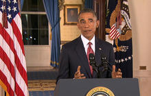President Obama vows to use airstrikes and intel to defeat ISIS