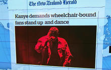 Headlines at 8:30: Kanye West demands fans at Sydney concert to stand up, including two in wheelchairs