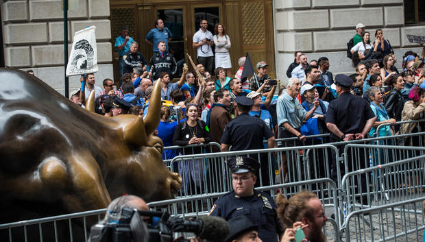 Climate advocates bring protest to Wall Street