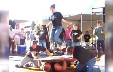 Indiana couple jump ropes on bed of nails, sets Guinness record