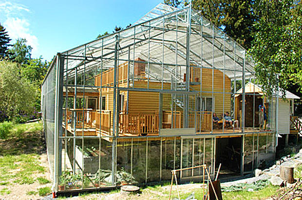 5 greenhouses that are actually homes cbs news for Green home house plans