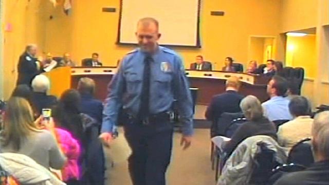 Officer Darren Wilson at a City Council meeting in Ferguson, Mo., Feb. 11, 2014