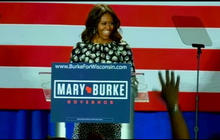 First lady Michelle Obama campaigns for Mary Burke