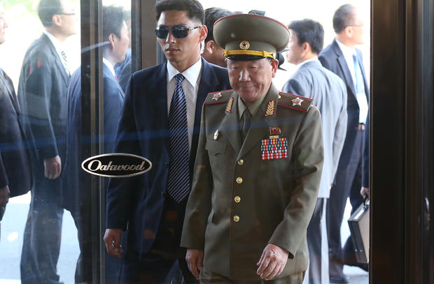 Hwang Pyong-So, vice chairman of North Korea's National Defense Commission, arrives at the Oakwood hotel, Oct. 4, 2014, in Incheon, South Korea