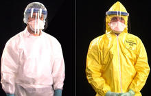 Suiting up for safety in Ebola protective gear