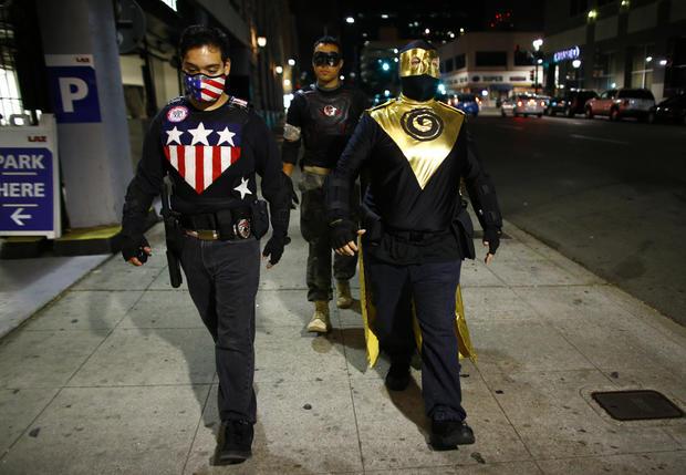 """Superheroes"" watch over San Diego"