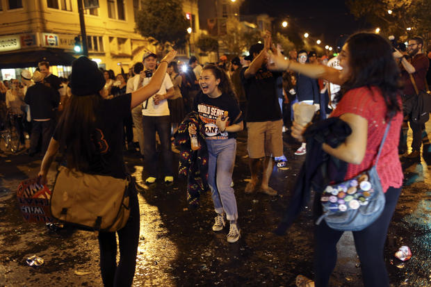 World Series celebration turns violent