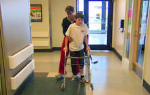 After Enterovirus, boy learns to walk again