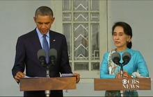 Obama visits Aung San Su Kyi in Myanmar