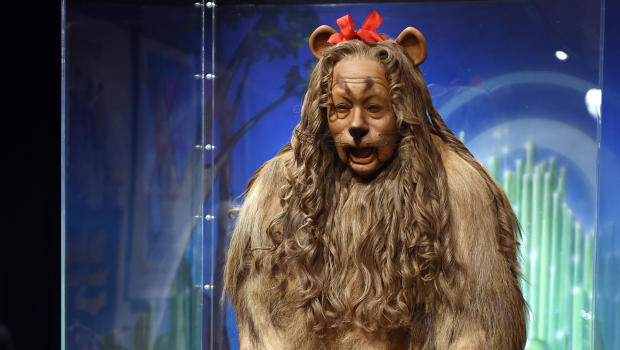 the wizard of oz cowardly lion costume fetches 3 million at