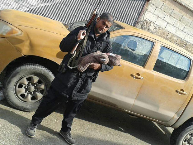 British jihadist Abu Rumaysah seen in a photo purportedly taken in Syria and posted to his Twitter account