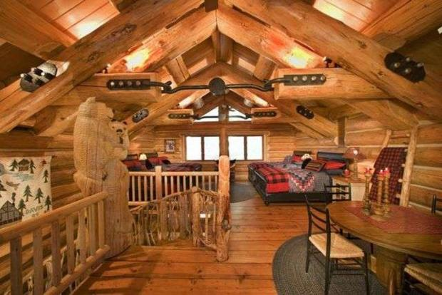 10 luxurious log cabins on the market cbs news for Extravagant log homes