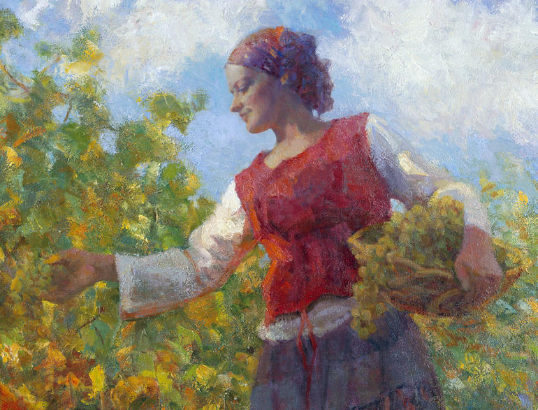 """Napa Bounty"" painting by artist Don Hatfield"