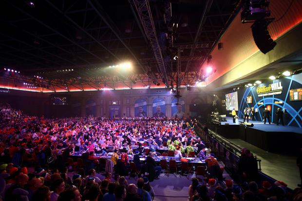 Wacky fans at U.K. darts tourney