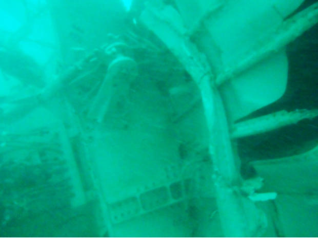 Part of tail of missing AirAsia jetliner is seen on floor of Java Sea in photo taken by searchers on January 7, 2015