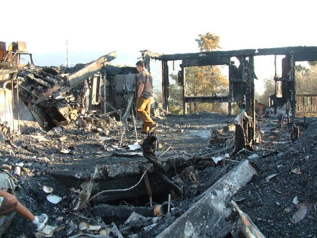 Burned remains of the Friedli house