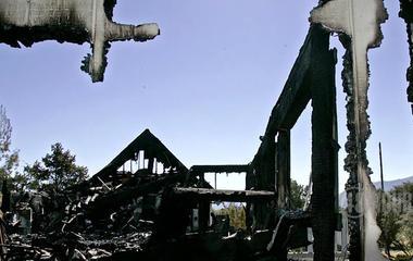 The destructive force of fire in a crime scene investigation
