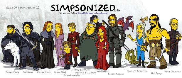 "Your favorite characters ""Simpsonized"""