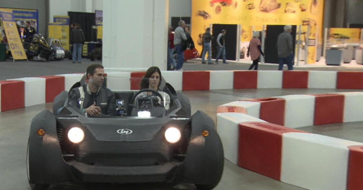 Taking a test drive in a 3D-printed car - CBS News