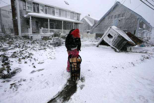 New England swamped by snow