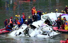 TransAsia plane hits overpass in deadly crash