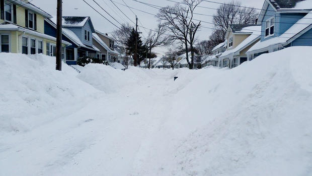 New England in winter's icy grip
