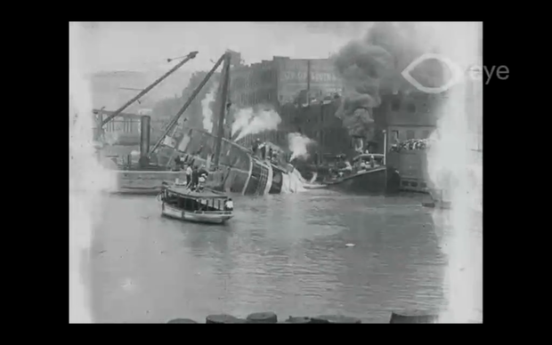 "New footage sheds light on ""Eastland"" disaster"