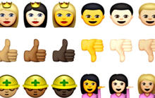 Diverse faces and growing influence of emojis