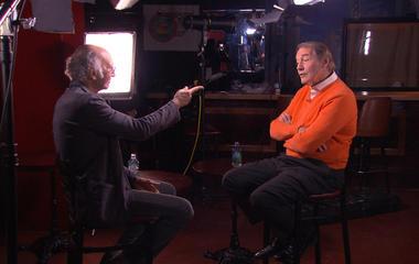 Charlie Rose challenges Larry David