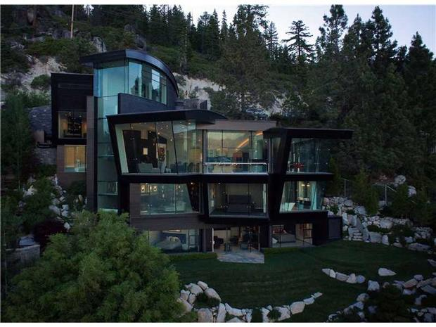Living on the edge 8 cliffside homes cbs news for Lake tahoe architecture firms