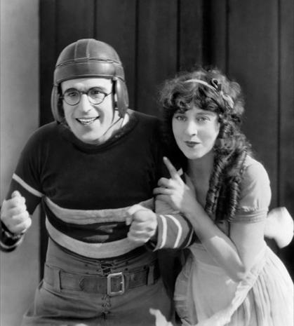 Harold Lloyd then and now