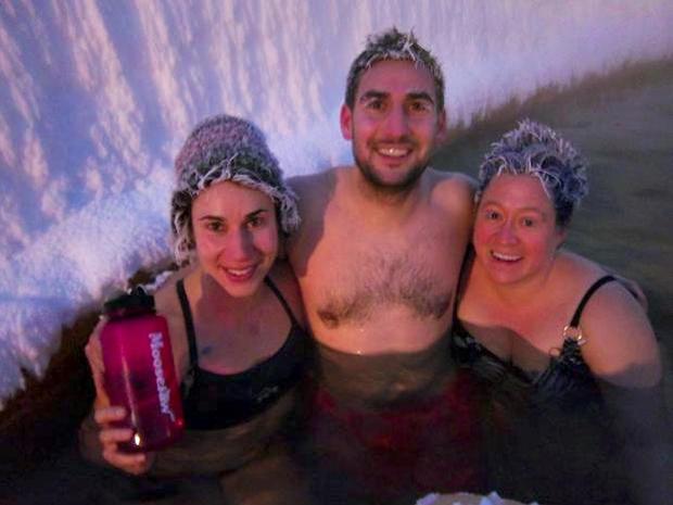 Canada's crazy frozen hair contest