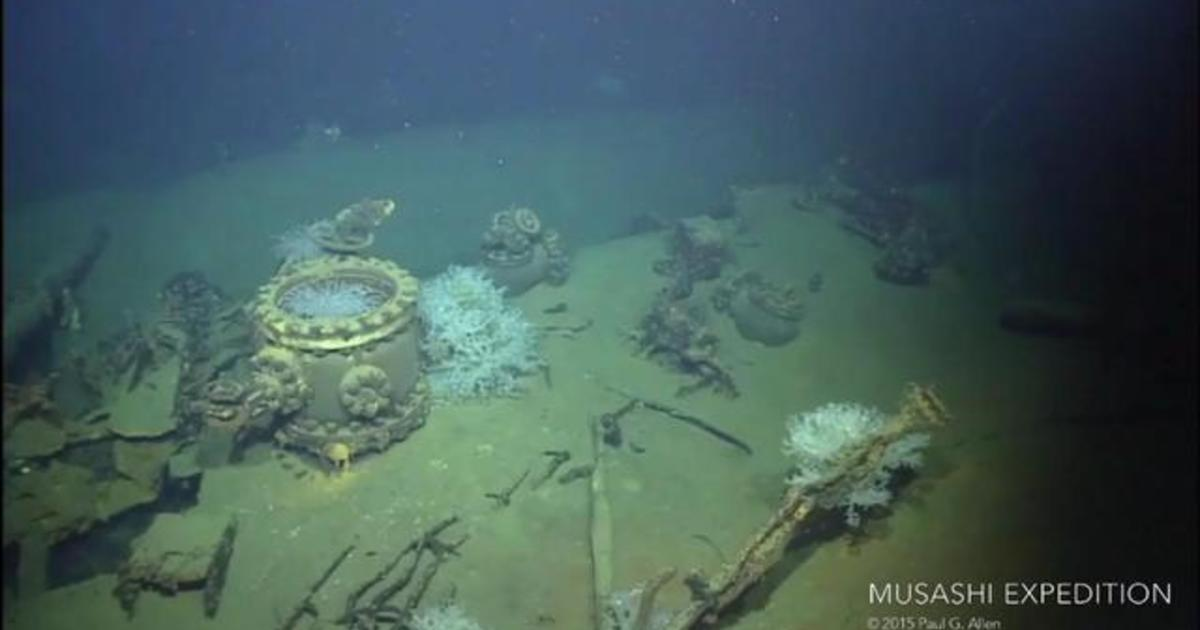 Watch Underwater Exploration Of The Musashi Wreck