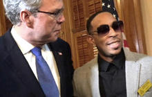 Roll Out! Jeb Bush Welcomes Ludacris at Georgia Statehouse
