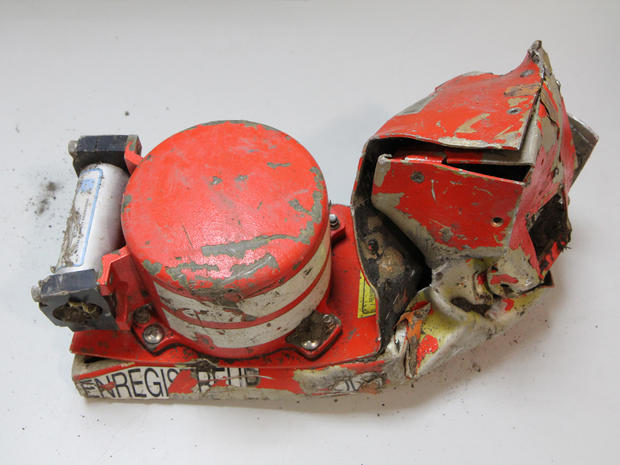 "The flight voice recorder, one of the so-called ""black boxes,"" from Germanwings Flight 9525, which crashed March 24 in the French Alps"