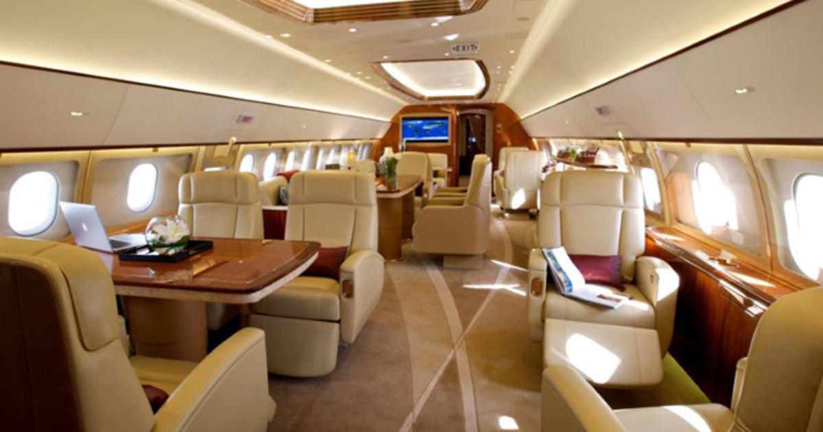 How today 39 s mega wealthy fly the friendly skies cbs news for Interieur sport lebron james