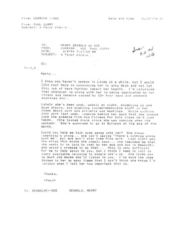 Paul Curry email to Merry Seabold