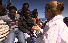 60 Minutes boards a rescue ship with 301 migrants